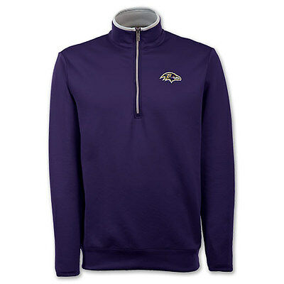 New With Tags Men's Medium Antigua Baltimore Ravens NFL Leader Pullover PURPLE