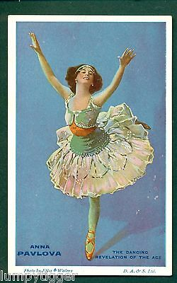 BALLET,ANNA PAVLOVA,THEATRE ADVERT ON BACK,vintage postcard