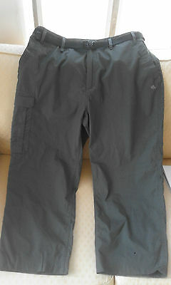 "Craghoppers Solarshield Mens Walking / Hiking Trousers  40"" Waist / 28"" Leg Xl"