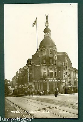 THE THEATRE WIMBLEDON NO 7945 BY H M & S L , vintage postcard