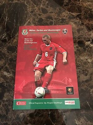 Wales vs Serbia & Montenegro 11/10/2003 Euro 2004 Qualifier Official Programme