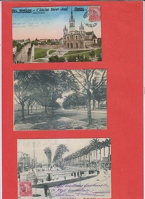 Lot of 4 old Postcards Brazil