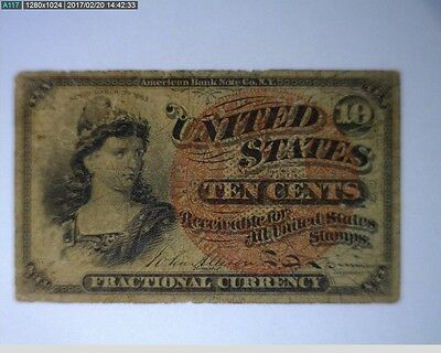 1869-1875 10C Fractional Currency Fourth Issue ( 58-208 )