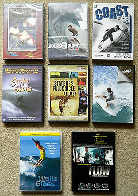 Joblot Collection of Surfing DVD's. Some UK some other regions. RARE, New & Used