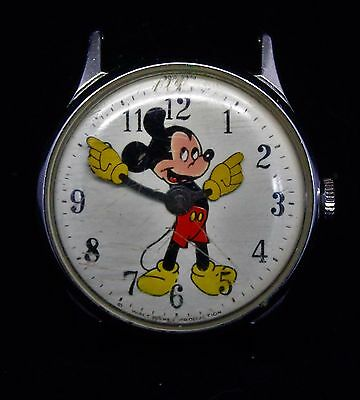 Vintage Mickey Mouse Wind Up Wristwatch