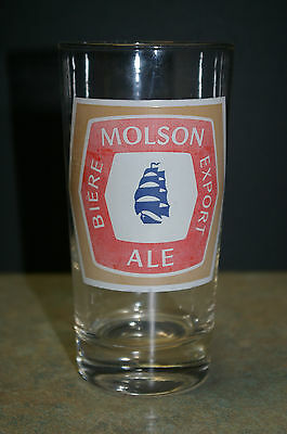 Vintage Molson Export Ale Beer Glass