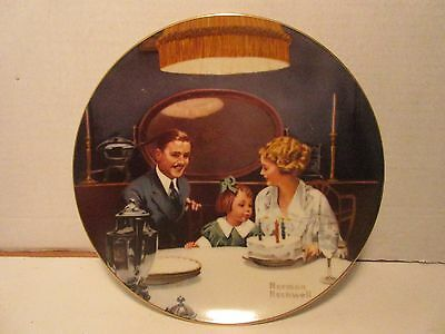 Norman Rockwell Plates The Birthday Wish Collectors Vintage Limited Edition