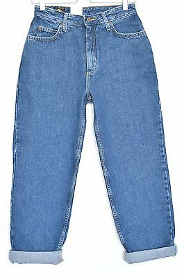 NEW Vintage Lee VIRGINIA High Waisted Tapered CROP Mom Blue Jeans Size 10 W28