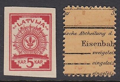 Latvia 1918 Four Points (Both on re-used map paper)