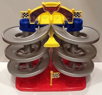 RARE Mattel Disney Pixar Cars Spiral Talking Speedway Racing Track FREE SHIPPING
