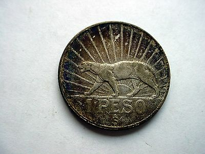 1942-S  Uruguay 1 Peso Silver Coin - Must See