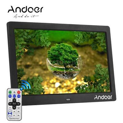 """Andoer 10"""" HD Screen LCD Digital Picture Frame Black US with Remote Control P9C9"""
