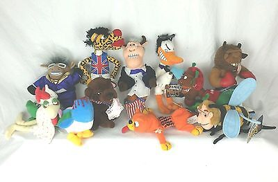 Meanies Bean Bag/Beanie Characters Lot of 11 Stuffed/Plush Idea Factory