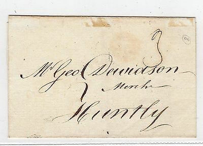 Scot - Aberdeenshire: 1785 Wrapper To Huntly With Aberdeen Postmark (A438)