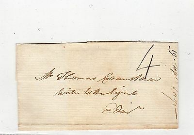 Scot - Angus: 1789 Wrapper To Edinburgh With Dundee Mark (A454)