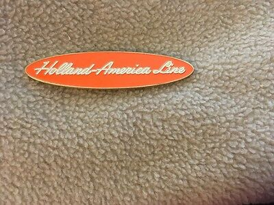 Holland America Collectible Pin ORANGE OVAL