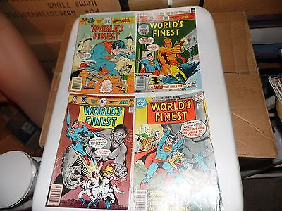 World's Finest Comics lot of 4 books #238 #239 #241 and #243 worn but complete