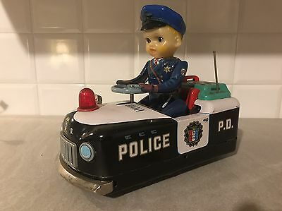 Tm Modern Toys-Police P.d.car Battery-Giocattolo Vintage Anni 60