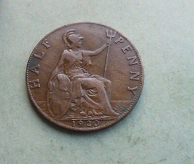 George V. Halfpenny 1920, Excellent Condition