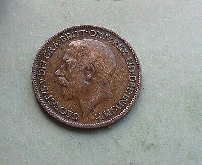 George V. Halfpenny 1913, Excellent Condition