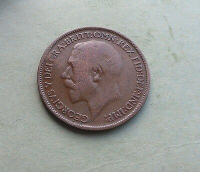 George V,  1914 Halfpenny, Good Condition.