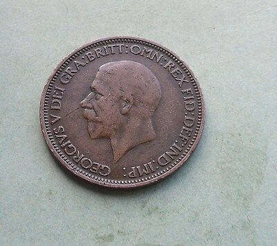 George V. Halfpenny 1930, Excellent Condition