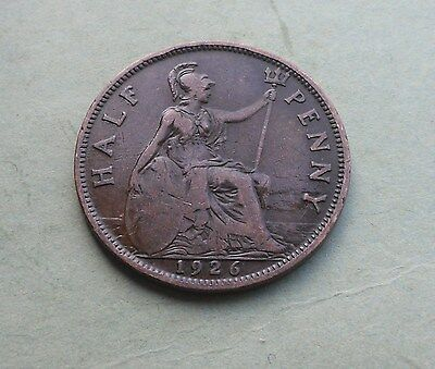 George V. Halfpenny 1926, Excellent Condition