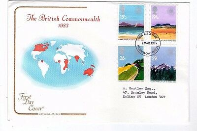 1983 Commonwealth Day With Hounslow Cds Cotswold Fdc From Collection G11
