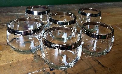 Vintage Dorothy Thorpe Roly Poly Mid Century Glassware Lowball Mad Men Retro