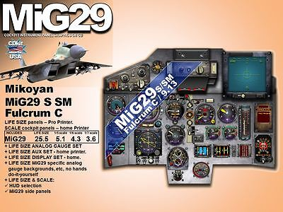 MiG29 FULCRUM COCKPIT instrument panel CDkit