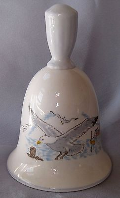 Vintage English Bone China Queen's Rosina Seagulls and ighthouse Bell