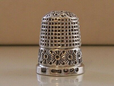 Antique Solid Silver Thimble Henry Griffiths & Sons Ltd, Hallmarked Chester 1899