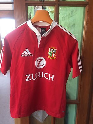 """British Lions 2005: rugby shirt  New Zealand, adidas-32/34"""", Climacool, Ex Cond"""