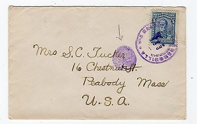 Colombia: 1917? Cover To Usa With Dumb Duplex Postmark (T333)