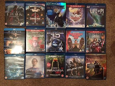 3d blu ray movies (£15 Each Or All For £100)