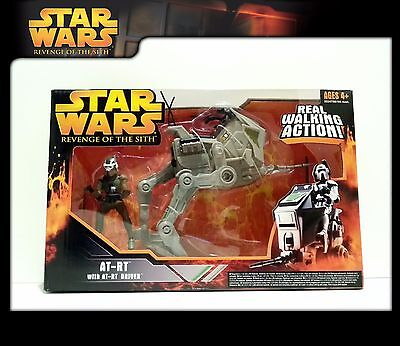 STAR WARS Revenge of the Sith (RotS): Electronic AT-RT + AT-RT Driver (OVP)
