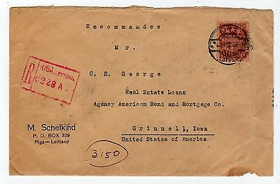 Latvia: 1928 Registered Cover To Usa (T269)
