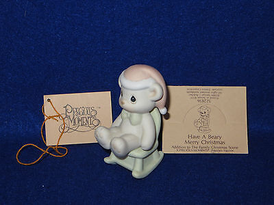 """""""have A Beary Merry Christmas"""" Precious Moments Figure #522856 - 1992 - Mib"""