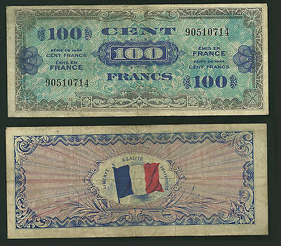 FRANCE - 100 Francs, 1944, Allied Forces - P #118a