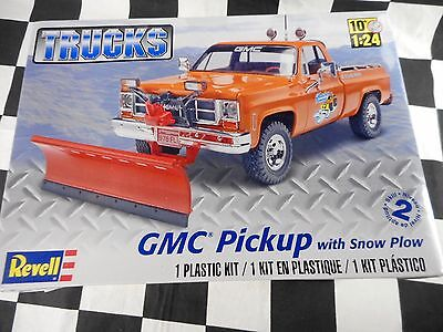 Revell Gmc Pickup With Snow Plow 1:25 Scale Plastic Model Kit - New In Box