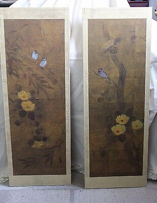 Japanese Iohara Collection Two Panels Byobu by Hiyakuho Imayasu  !!* REDUCED *!!