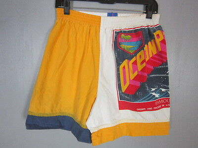 Vintage 80s 1987 Ocean Pacific Surf Op Shorts Mens size Small 26x6