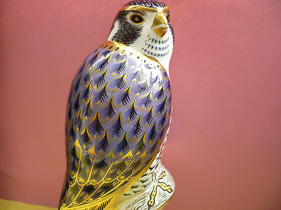"""Royal Crown Derby Paperweight """"PEREGRINE FALCON""""1st Quality & Original Box"""