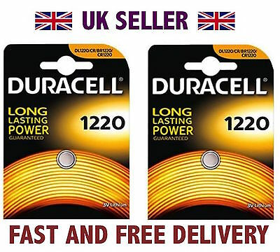 *Cheapest* 2 X Duracell CR1220 3V Lithium Button Battery Coin Cell DL1220 FAST