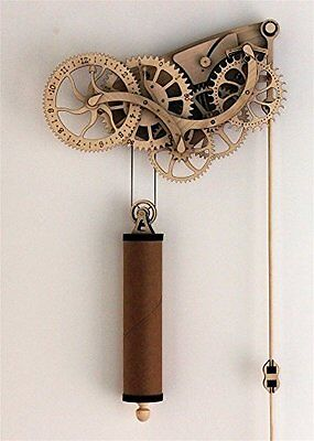 Wooden Clock Kit Mechanical Craftsman Wood Metal Parts Hand Crafted Workshop New