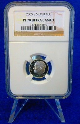 2005-S ROOSEVELT DIME...10c...SILVER...NGC CERTIFIED...PF 70...ULTRA CAMEO
