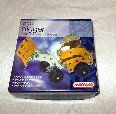 """NEW/SEALED!- """"Marks & Spencer Meccano Diigger Construction"""" Set - Over 70 Pieces"""