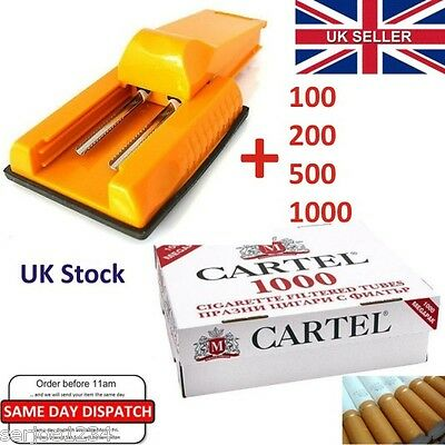 Manual Double Cigarette Injector Maker Machine Tobacco Roller + TUBES, UK Stock