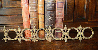 One Antique French Bronze Pediment Furniture Mount Trim Decoration