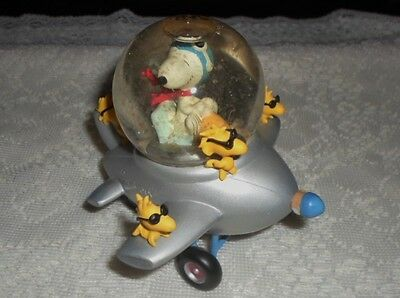 """WESTLAND SNOOPY """"FLYING ACE AIRPLANE"""" SNOWGLOBE - No. 8233- PEANUTS COLLECTION"""